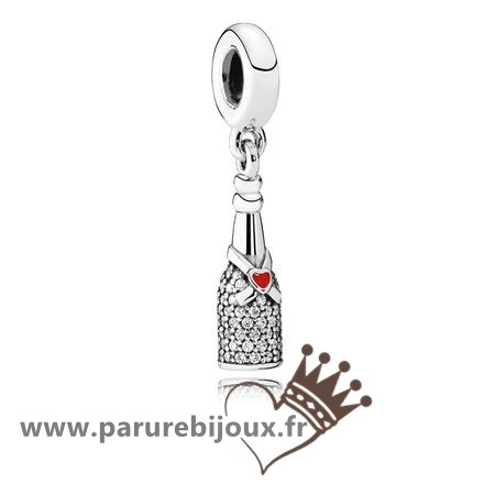 Qualité Pandora Pandora Passions Charms Chic Charme Celebration Time Dangle Red Enamel Clear Cz