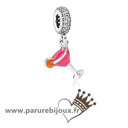 Qualité Pandora Pandora Passions Charms Chic Glamour Fruite Cocktail Charm Mixed Email Clear Cz