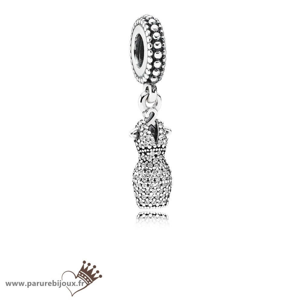 Qualité Pandora Pandora Passions Charms Chic Robe Glamour Dazzling Dangle Charm Clear Cz