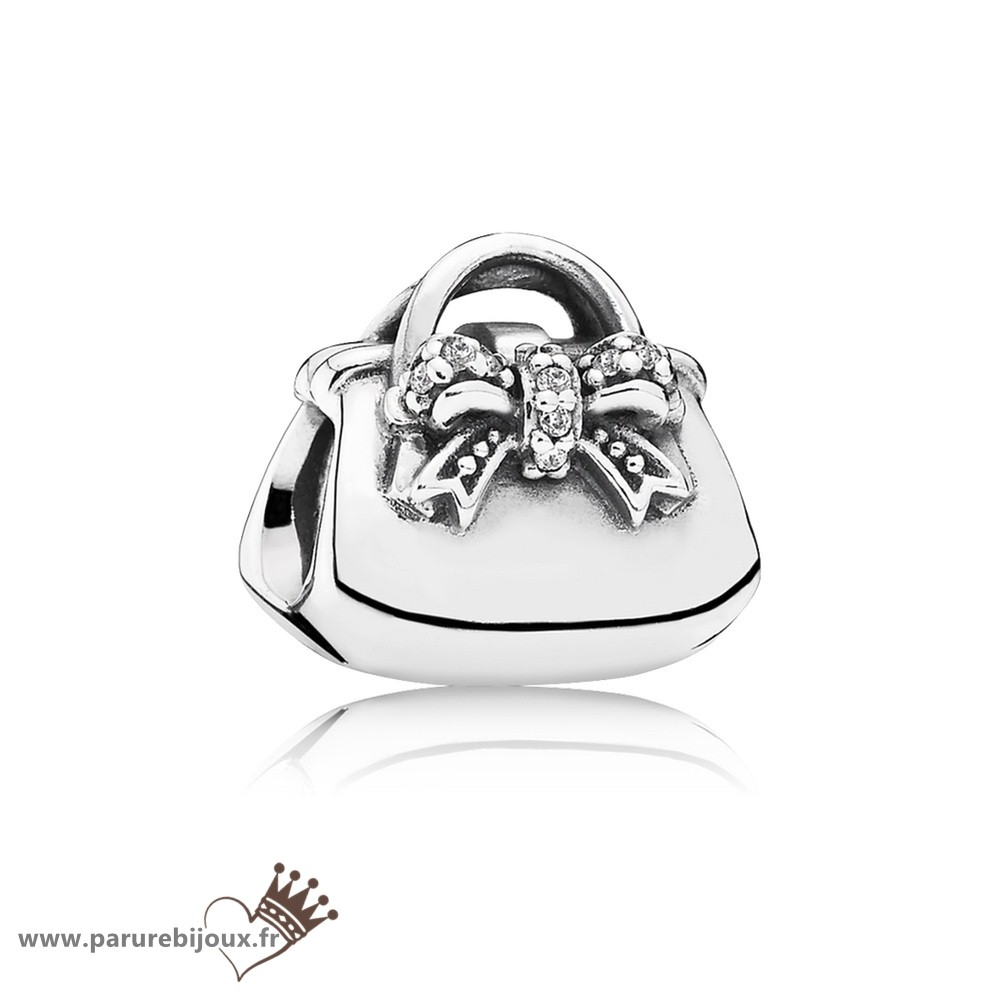 Qualité Pandora Passions Charms Chic Charmant Sac A Main Clear Cz