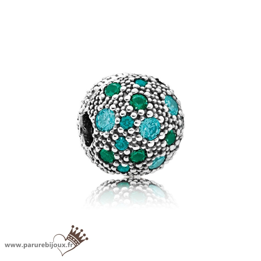 Qualité Pandora Pandora Toucher De Couleur Charms Cosmic Etoiles Multi Coloured Crystals Teal Cz